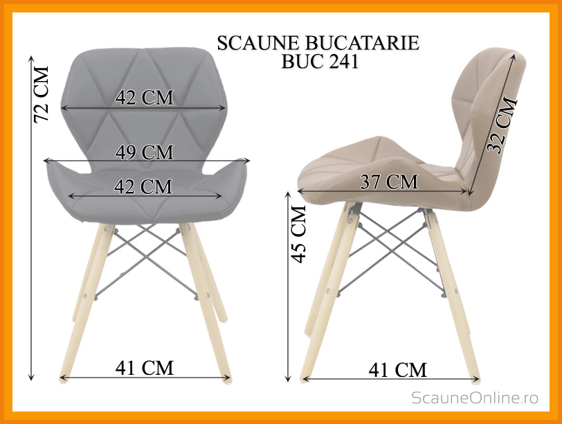 Dimensiuni Scaun dining BUC 241