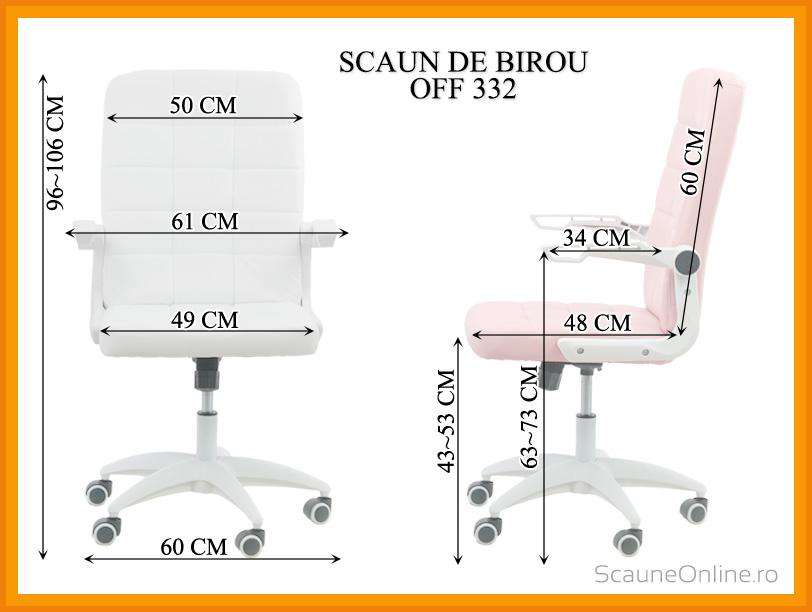 Dimensiuni scaun de birou OFF 332
