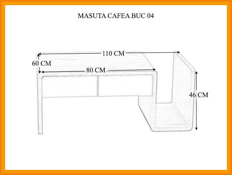 Dimensiuni Masa cafea BUC 04