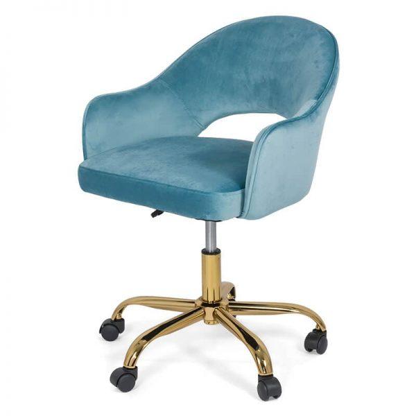 Scaun din catifea pentru birou OFF 640